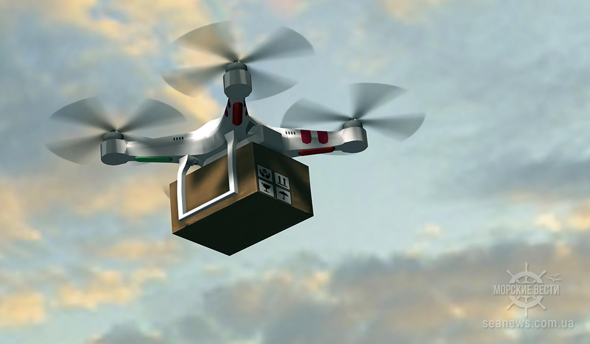В Сингапуре испытают доставку посылок дроном на судно