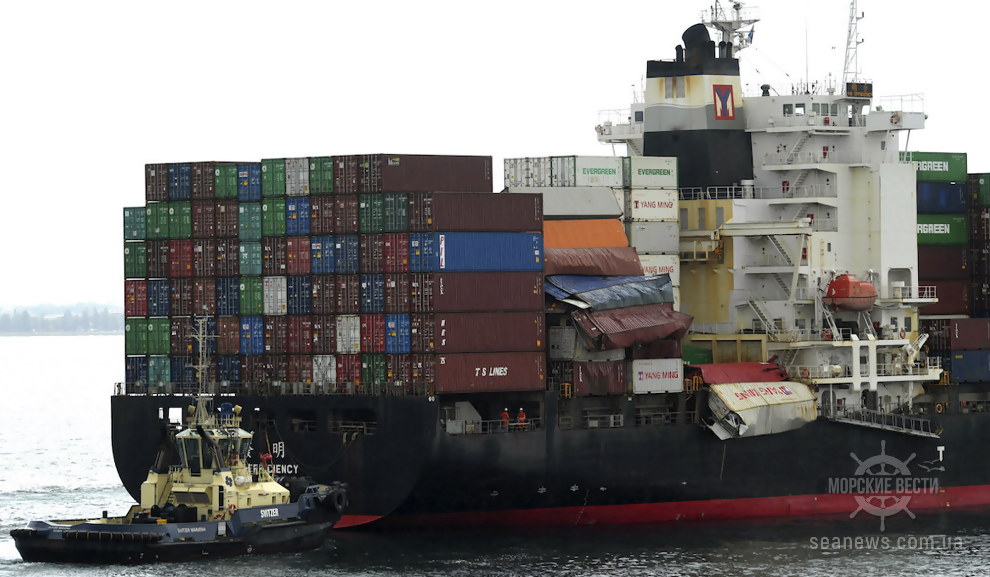 До сих пор продолжается поиск потерянного груза с судна YM Efficiency