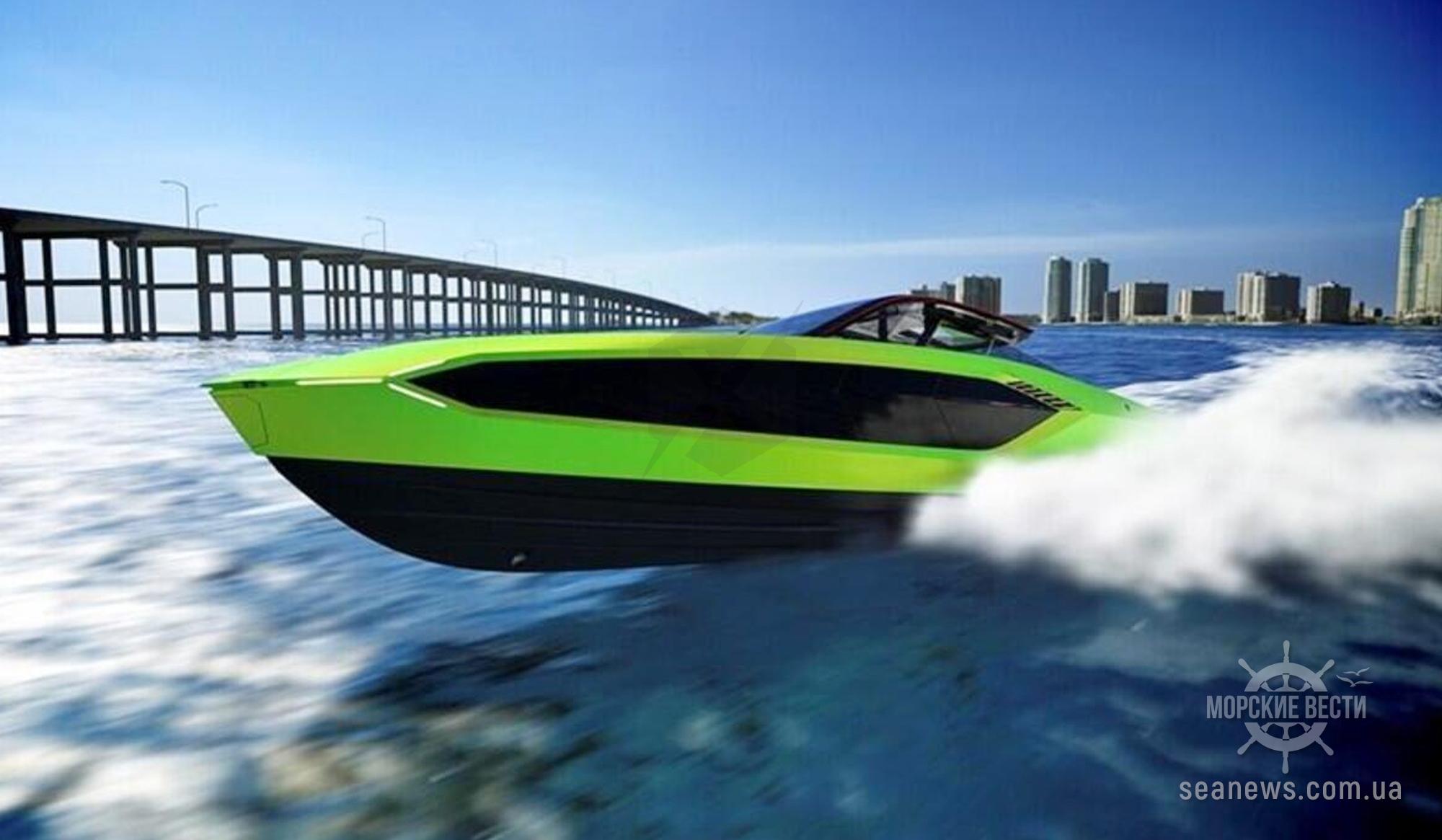 Lamborghini на воде