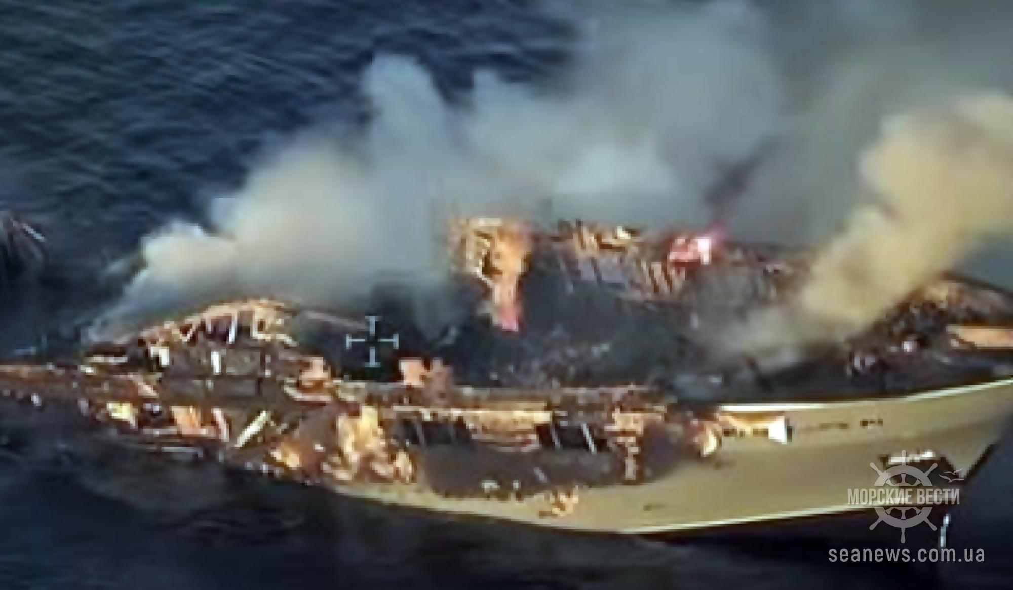В Сардинии загорелась и утонула туристическая яхта