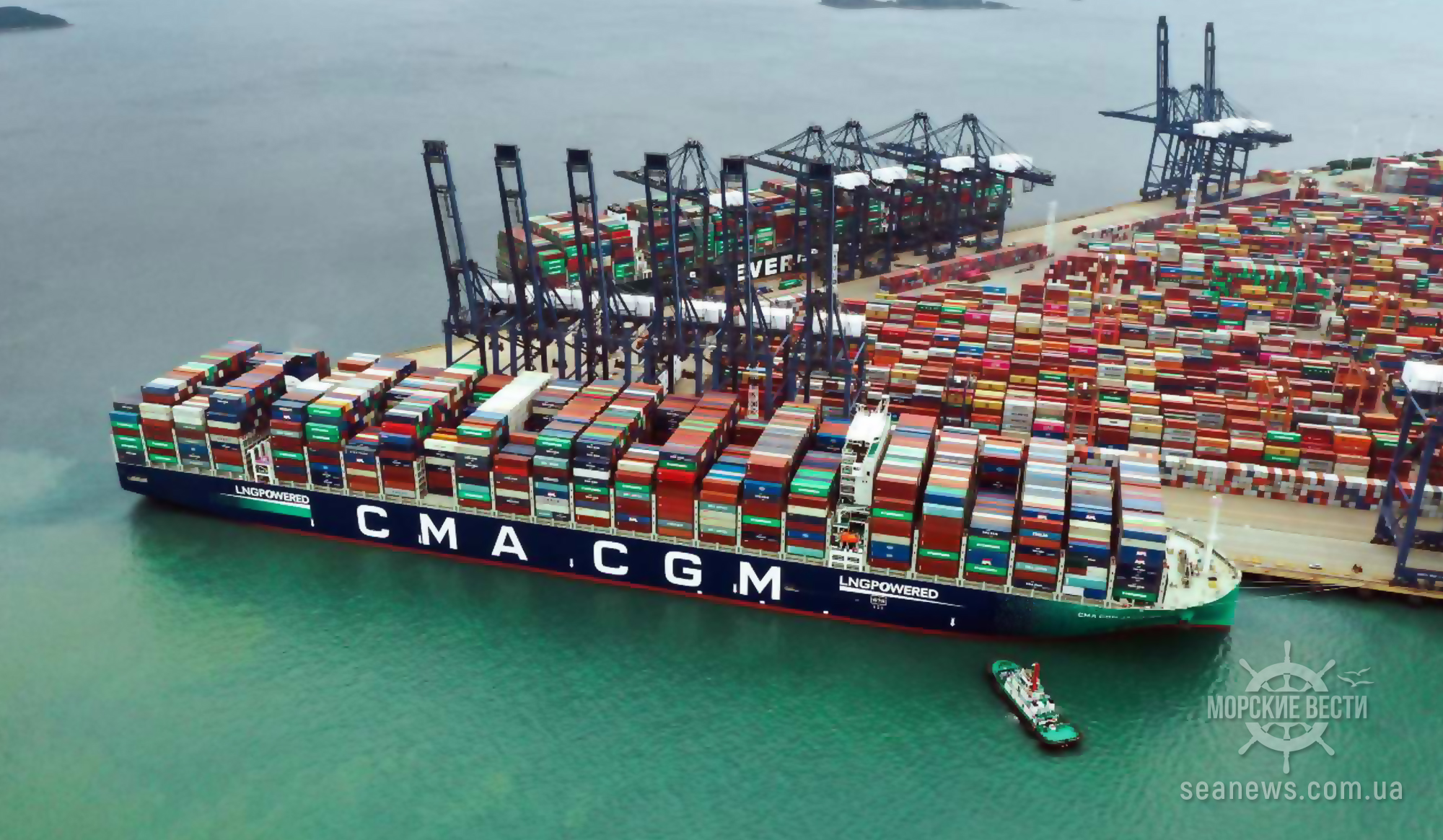 В Сингапур впервые прибыл контейнеровоз CMA CGM на СПГ вместимостью 24 тыс. TEU