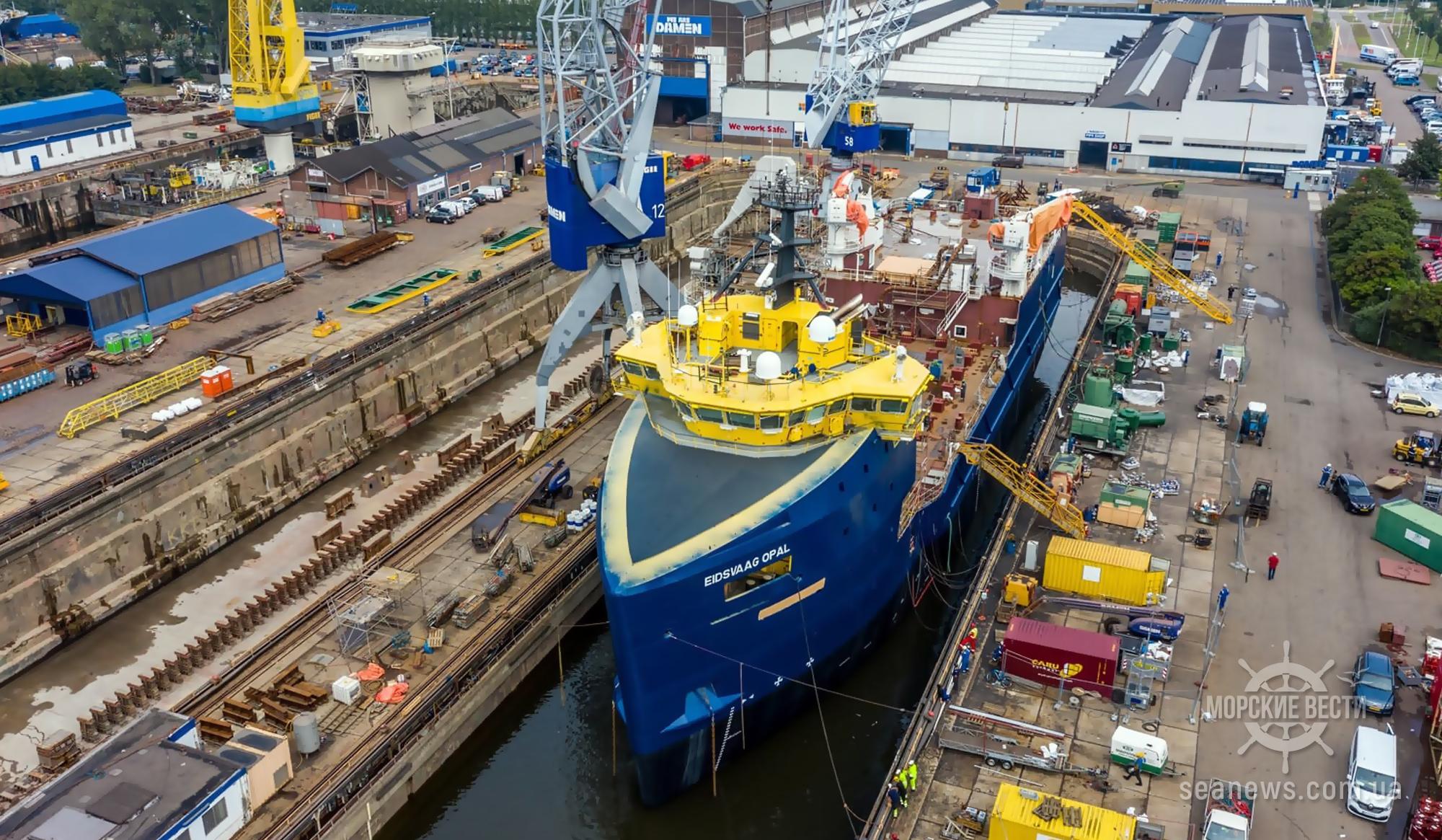 Нидерландская верфь успешно завершила очередной проект конверсии судна