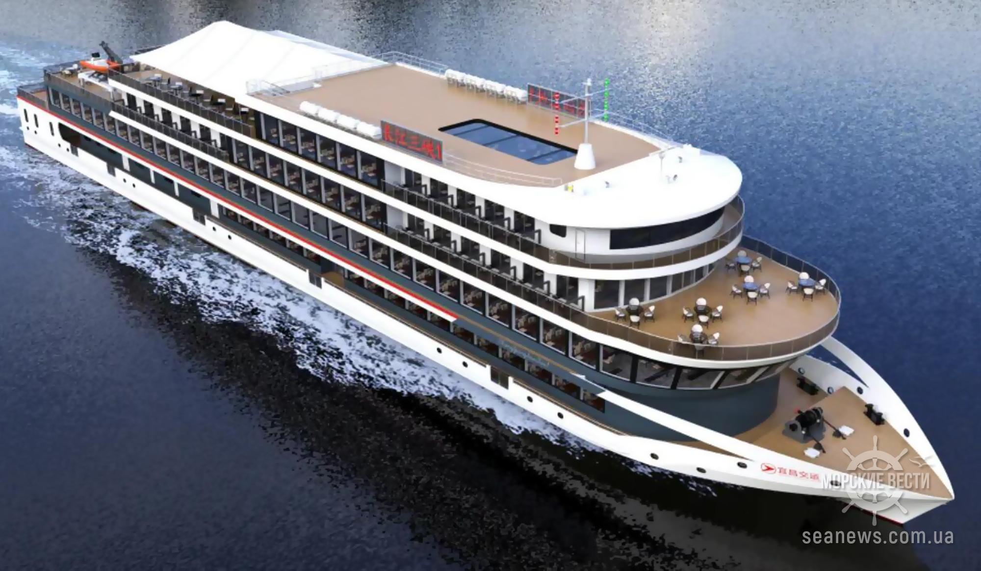 В Китае начали строительство крупнейшего в мире электрического судна