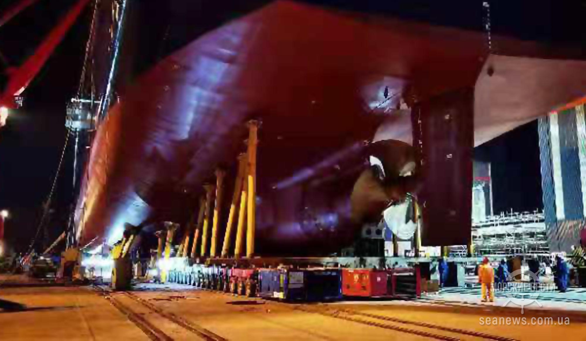 На верфи Шанхая спущен на воду первый из трех морских автовозов с гибридной силовой установкой