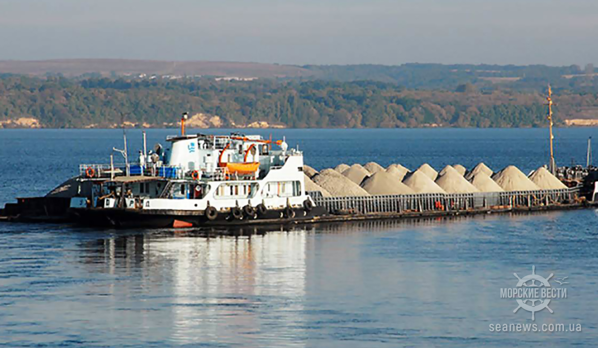 Что перевозят по крупнейшей реке Украины?