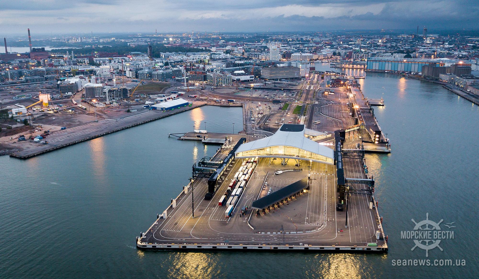 Грузооборот порта Хельсинки существенно вырос