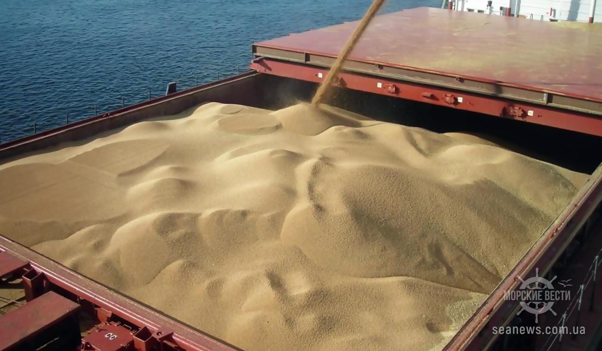 Объем перевалки зерна морпортами Украины почти на 20% ниже прошлогоднего
