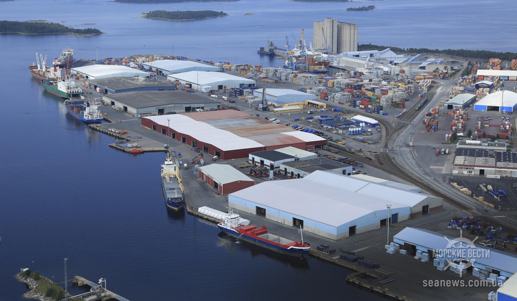 Контейнерооборот портов Финляндии «просел»